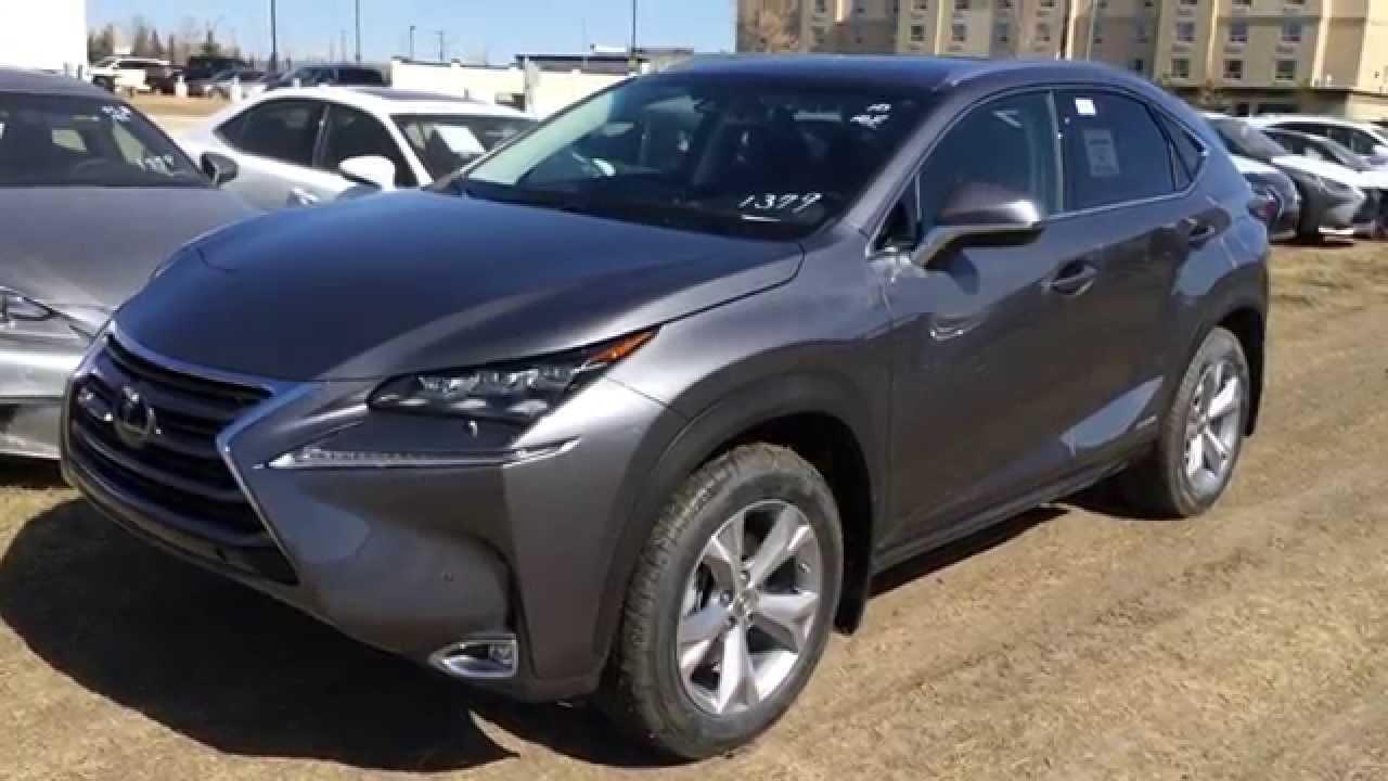 Lexus Nx Hybrid >> New Grey 2015 Lexus NX 300h Hybrid AWD - Standard Equipment Review / Lexus of Edmonton - YouTube