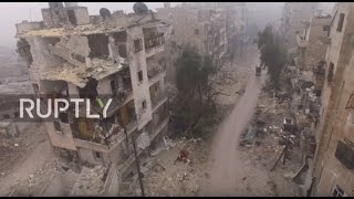 Syria: Drone footage captures devastation of east Aleppo