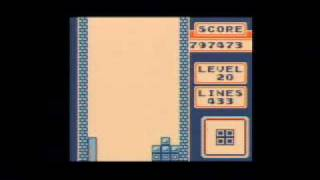 Repeat youtube video Game Boy Tetris - 999,999 points