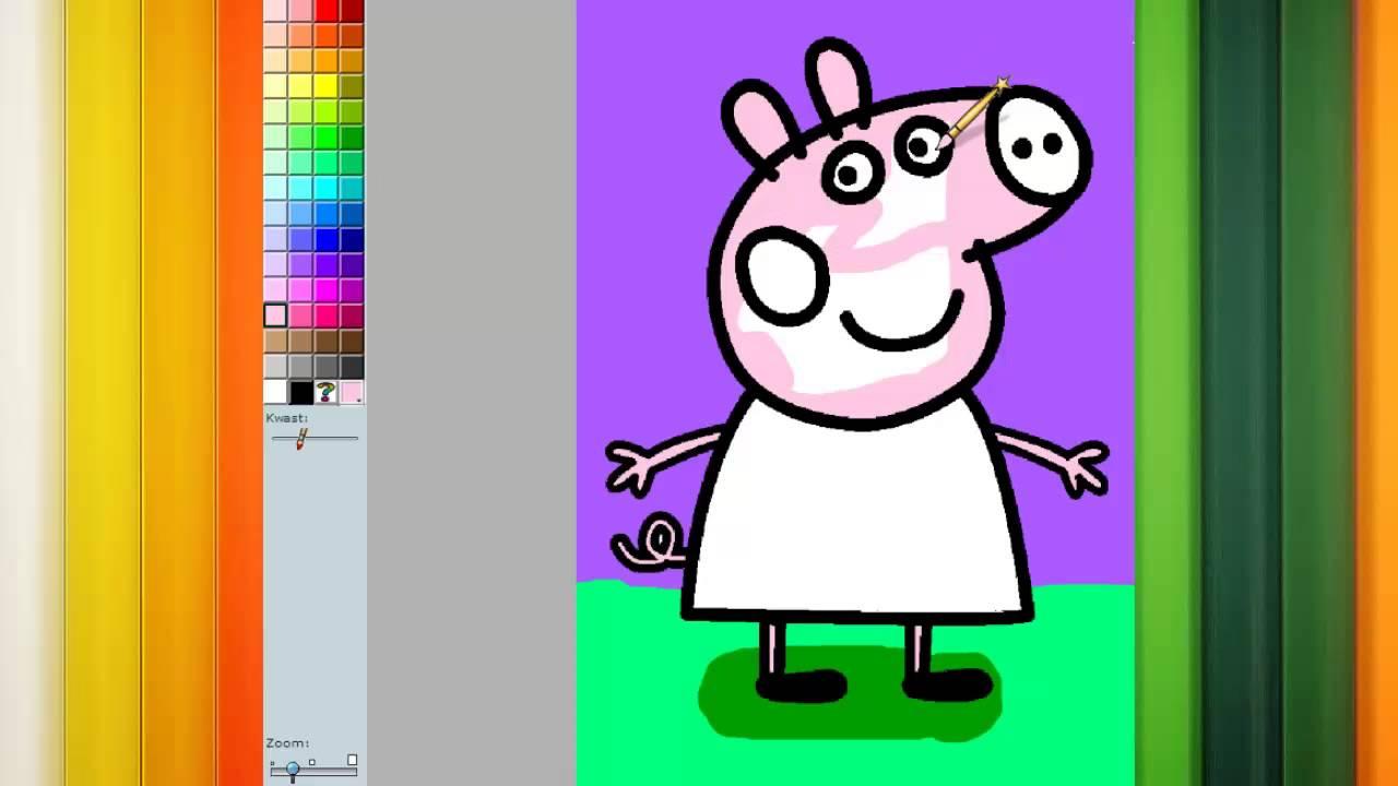 Porquinha Peppa Pig Jogo De Pintar E Colorir A Peppa Youtube