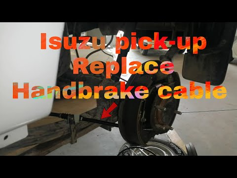 How to replace handbrake cable Isuzu pick up left side