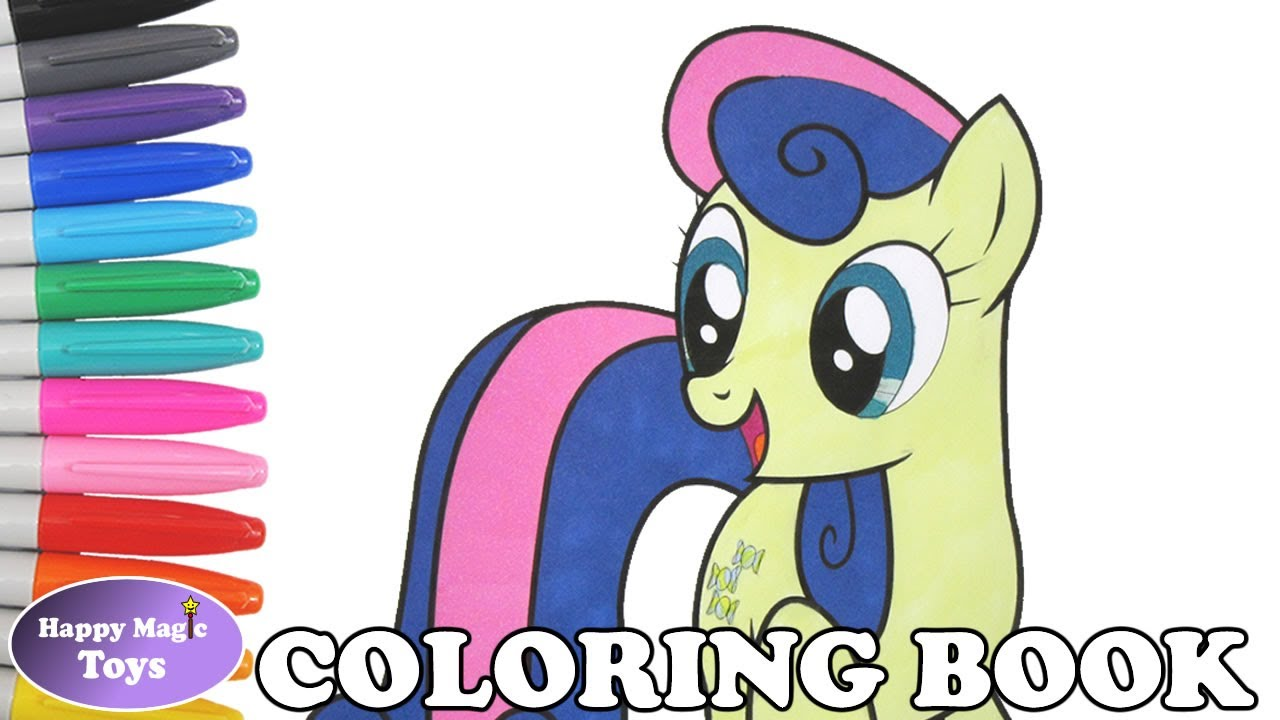 MLP Bon Coloring Book Pages My Little Pony Sweetie Drops Page MLPFiM Kids Art