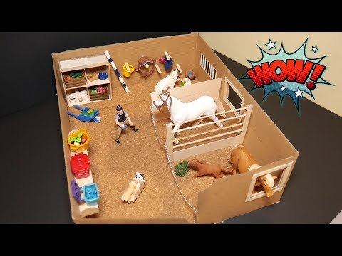 Easy Schleich Barn DIY | Crafting a Schleich Stable