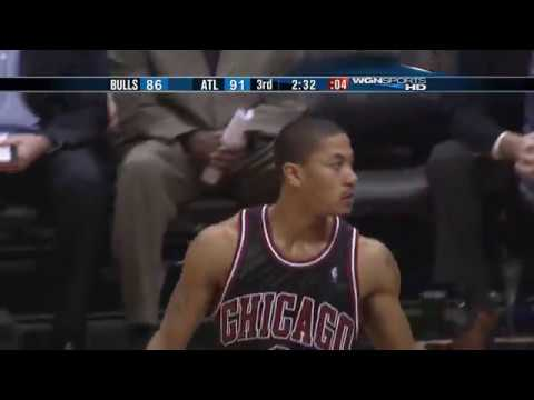 Derrick Rose rookie highlights vs Atlanta Hawks 2008-09
