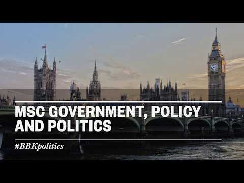 MSc Government, Policy and Politics