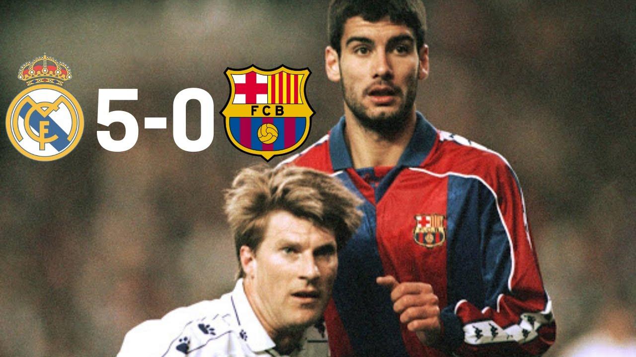 Download REAL MADRID 5 - 0  BARCELONA   1995 LA LIGA  GOALS & HIGHLIGHTS  || BACK WHEN CROWDS WERE PASSIONATE