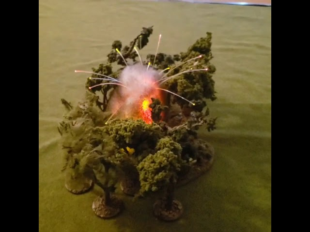 Budsblastmarkers.com Napalm explosion with fiber optics