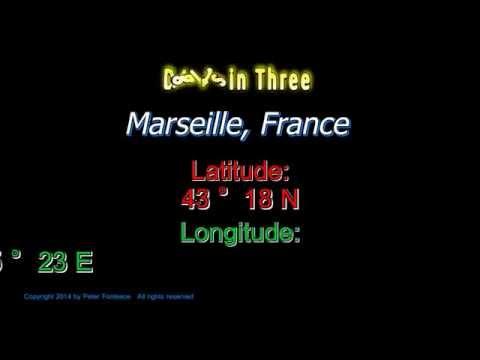 Marseille France - Latitude and Longitude - Digits in Three