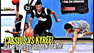 Kyree Walker vs Cassius Stanley Was a SHOW! 1st Ever Sudden Death Basketball Game!!??