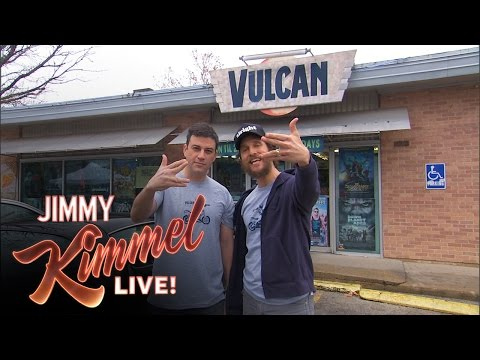 Jimmy Kimmel and Matthew McConaughey Make A Local TV Commercial for Vulcan Video