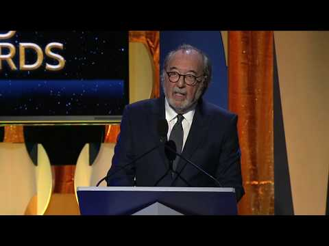 James L. Brooks accepts the WGAW's Laurel Award for Screenwriting