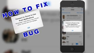 "Video How to fix ""Connect to iTunes to use Push Notfications"" Bug on WhatsApp (iPhone iOS) download MP3, 3GP, MP4, WEBM, AVI, FLV Juni 2018"