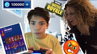 BUYING $500 WORTH OF V-BUCKS ON FORTNITE BATTLE ROYALE ON MY MOMS CREDIT CARD! (GONE WRONG)