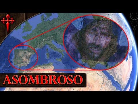Rostro de CRISTO se ve en el mapa de España