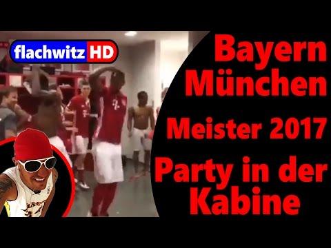 FC Bayern München - Deutscher Meister 2017 - Party in der Kabine - Comedy