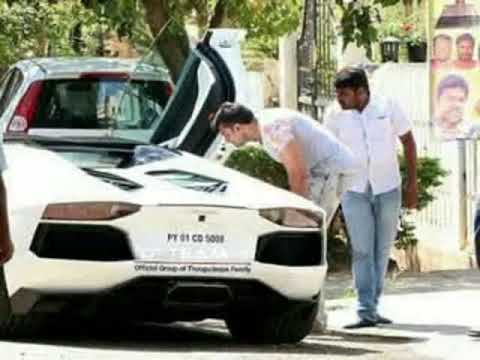 Challenging Star Darshan New Lamborghini Car Exclusive Video Youtube