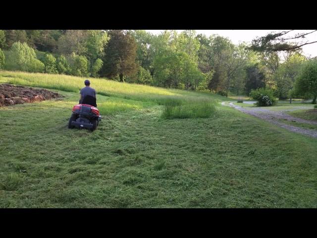 Riding Mower - Husqvarna R322T and Kova Flail Mower