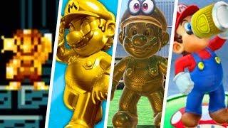 Evolution of Gold Mario (2012 - 2019)