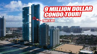A TOUR OF MY 9 MILLION DOLLAR PORSCHE DESIGN TOWER CONDO!! *CAR ELEVATOR + SUPERCAR GARAGE*