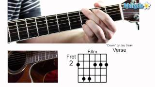 "How to Play ""Down"" by Jay Sean on Guitar"