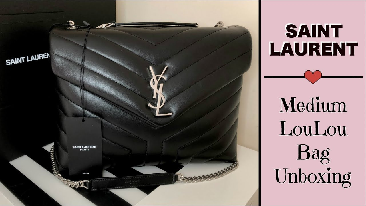 e22e4dac79e YSL Saint Laurent Unboxing & Comparison | Medium Lou Lou Bag - YouTube