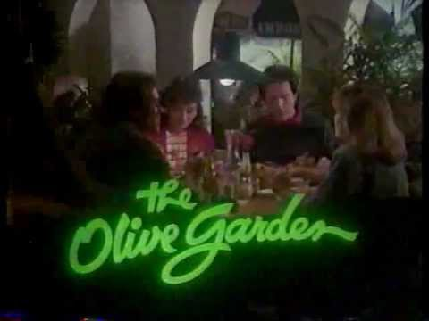 Olive Garden Commercial Late 80s Early 90s Youtube