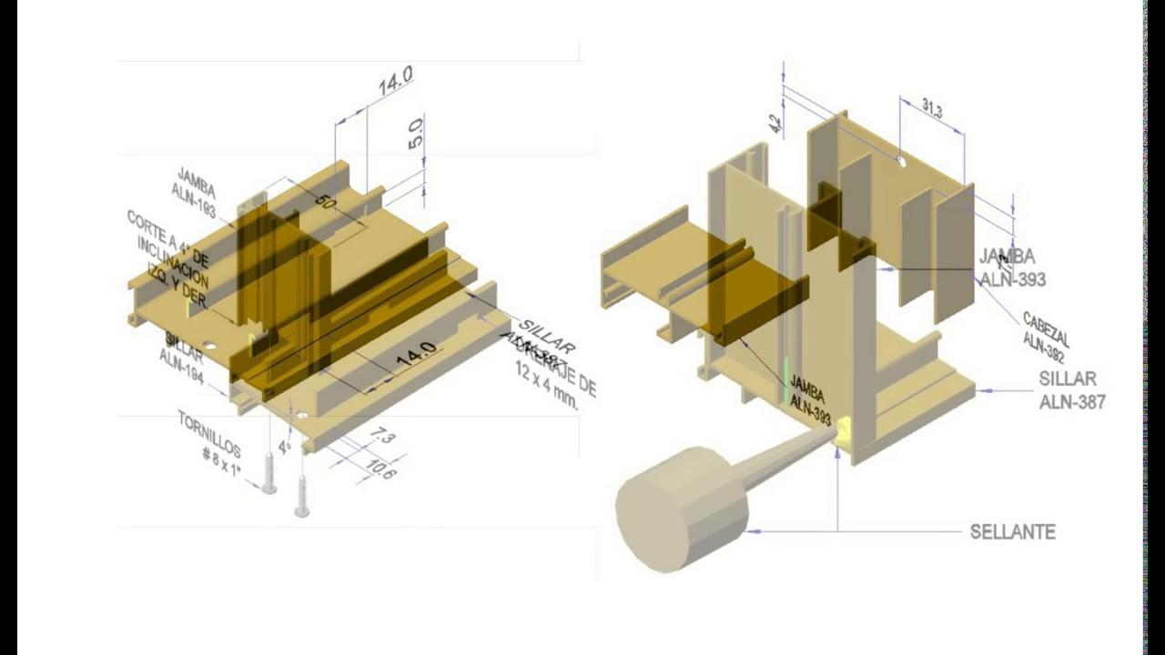 Como fabricar puerta corredera economica en aluminio youtube for Fabricar puerta corredera