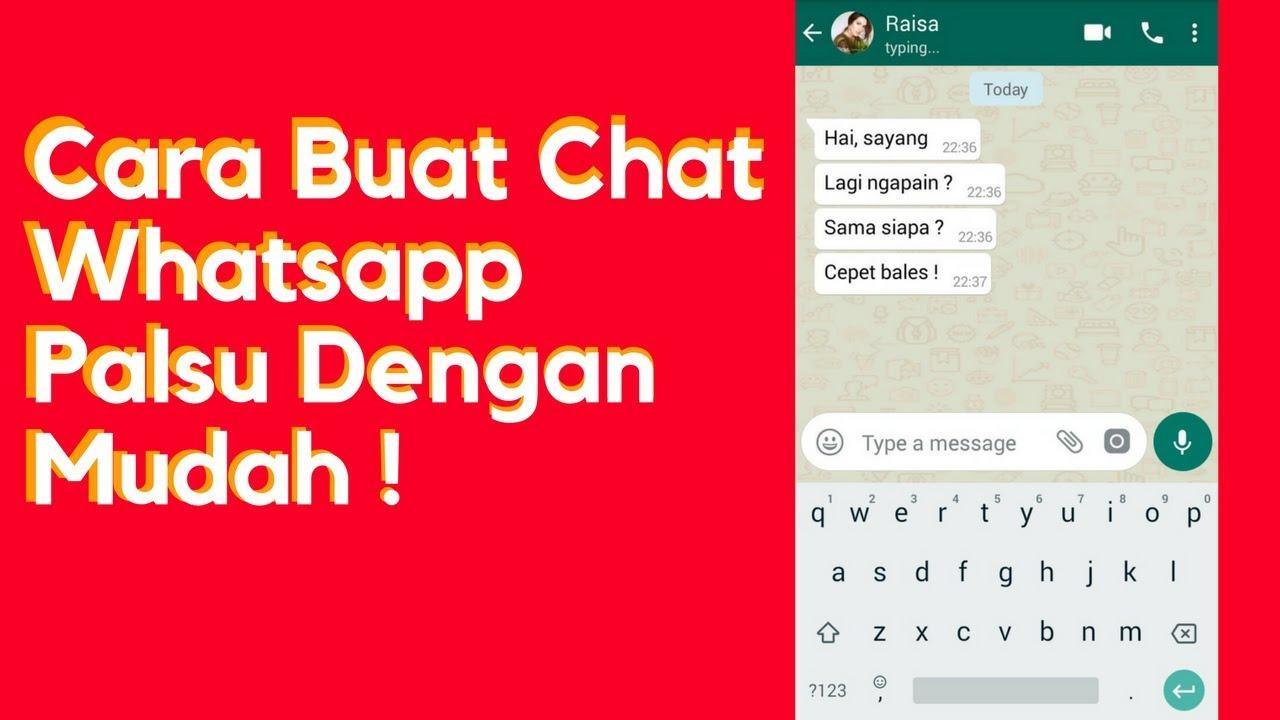 Membuat Fake Chat Whatsapp Mudah ! | #Part 1