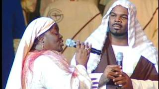 """Monica Allen and Walter Stevenson singing, """"One Night With The King"""""""