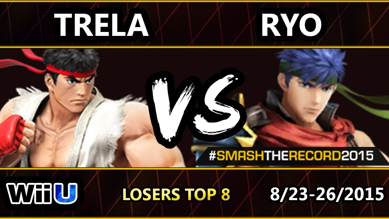 STR2015 - SU | Trela (Ryu) Vs. Ryo (Ike) SSB4 Losers Top 8 - Smash Wii U