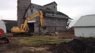 Razing An Old Corn Crib