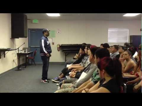 Motivational Speaker visits Rialto alternative school
