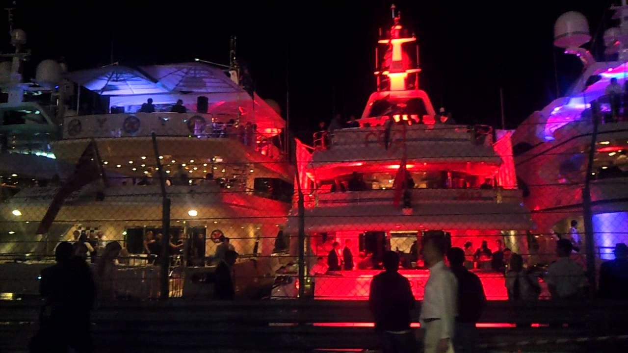 Nightlife In Monaco Party On Yacht Before F1 Grand Prix