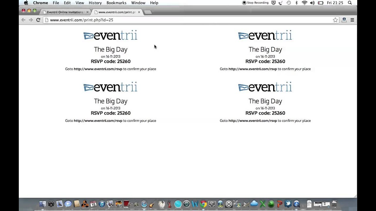 Create free Online invitations and RSVP Online with Eventrii YouTube