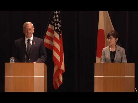 Mattis, Japanese Counterpart Conduct News Conference Full Version