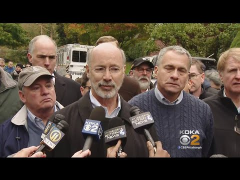 Pittsburgh Synagogue Shooting: Gov. Tom Wolf, Wendell Hissrich Address Shooting
