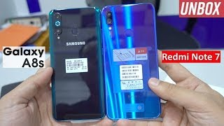 Samsung Galaxy A8s Green Unboxing | Comparision with Redmi Note 7 | Review