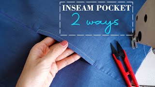 [✅2 WAYS] How T๐ Sew Inseam Pockets   Sewing Techniques For Beginners   Thuy Sewing