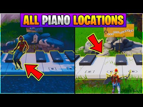 Fortnite ALL PIANO LOCATIONS! Play The Sheet Music On The Pianos Near Pleasant Park And Lonely Lodge
