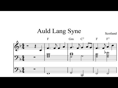Auld Lang Syne: CHRISTMAS SHEET MUSIC Piano Organ & Keyboard Book 2