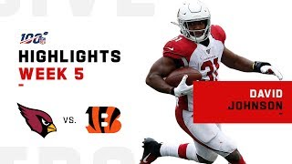 David Johnson Highlights vs. Bengals | NFL 2019