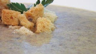 Суп-пюре из шампиньонов видео рецепт. Книга о вкусной и здоровой пище(Сайт проекта:http://www.videocooking.ru Приготовлено по рецепту из