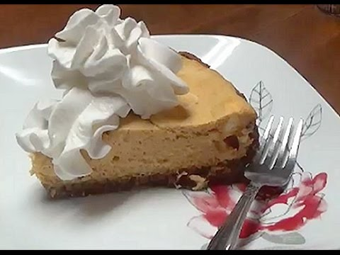 Recipe for Easy Baking Pumpkin Cheesecake with GingerSnap Cookie Crust