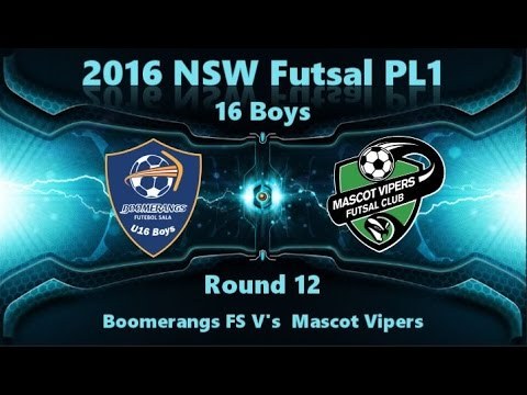 NSW PL1 16 Boys  Round 12 - Boomerangs FS vs Mascot Vipers