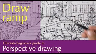 how to draw a garden in one point perspective