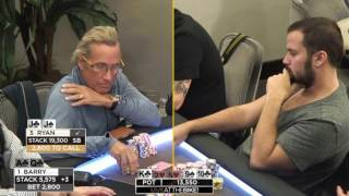Ryan Fee & Barry Woods $10,000 4-Bet Levelling War!! ♠ Hand of the Night ♠ Live at the Bike!