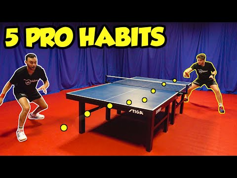 5 Habits You Need To Learn From Pro Table Tennis Players