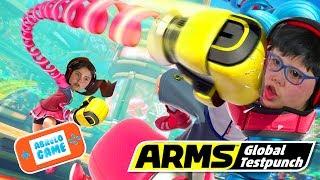 Arms en Español Puñetazo en toda la cara Gameplay para Nintendo Switch en Abrelo Game