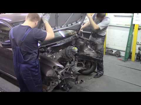 Кузовной ремонт. Фольксваген Поло, не большой ремонт с демонтажем мотора. Body repair.