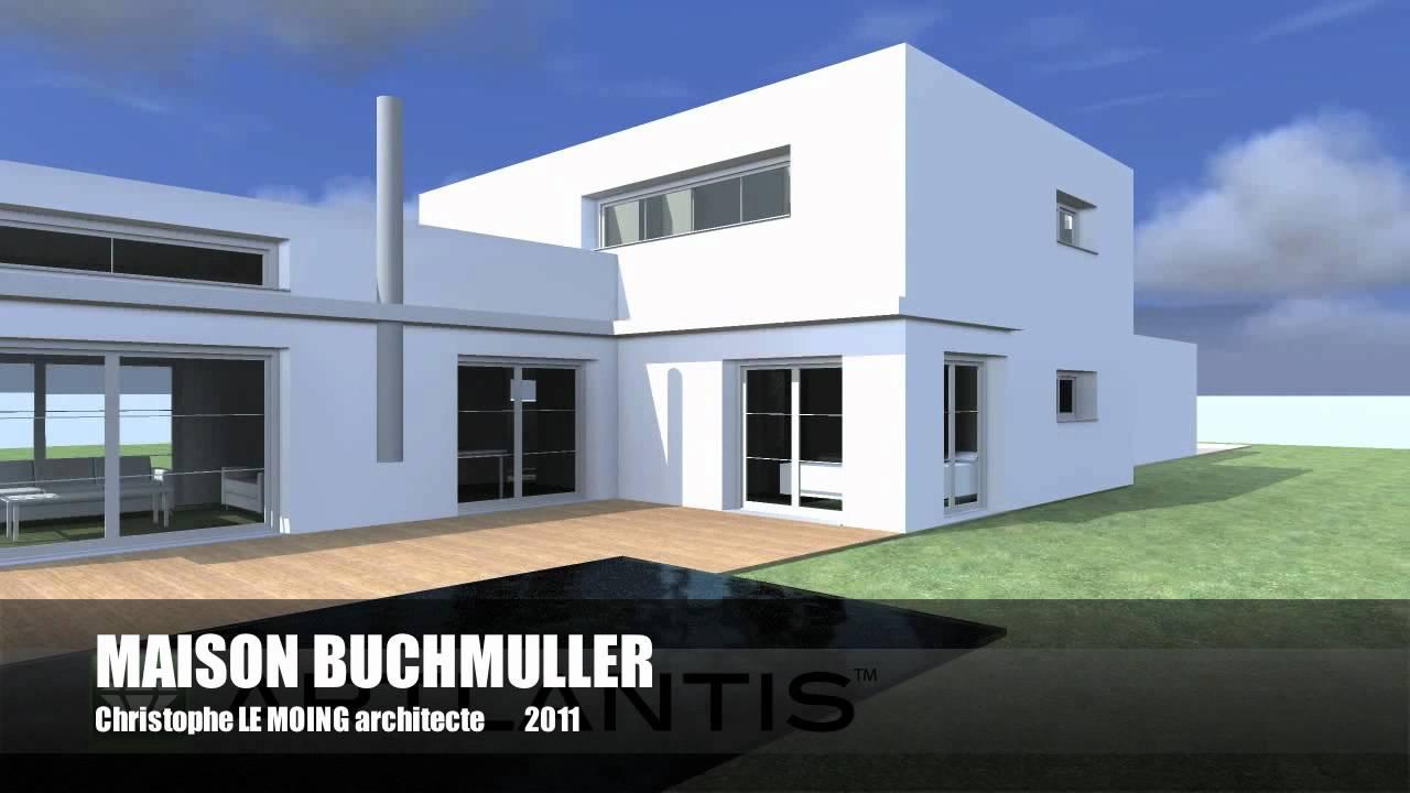 maison contemporaine bbc pont aven 29 christophe le moing architecte lorient youtube. Black Bedroom Furniture Sets. Home Design Ideas